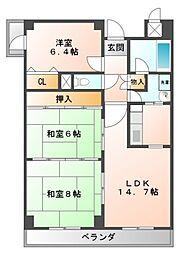 メゾンドール江坂[4階]の間取り