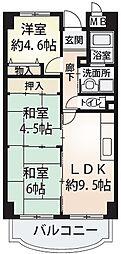 サンローレル 角田3 吉田9分[7階]の間取り