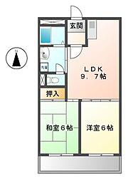 カーム桜作[2階]の間取り