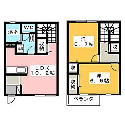 [一戸建] 静岡県御殿場市北久原 の賃貸【/】の間取り