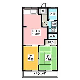 ラフォーレ神谷[2階]の間取り