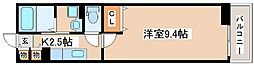 JR山陽本線 大久保駅 徒歩7分の賃貸アパート 2階1Kの間取り