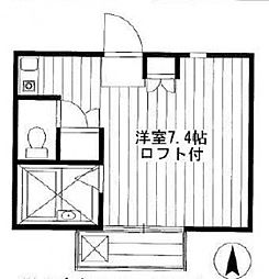 ボナール・井草[202号室号室]の間取り