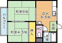 コーポ引野口 A棟[1階]の間取り