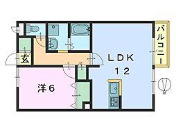 ミエパレス[2階]の間取り