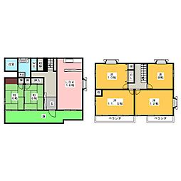 [一戸建] 栃木県宇都宮市富士見が丘1丁目 の賃貸【/】の間取り