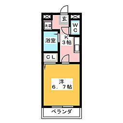 SHINONOMEハイツ[4階]の間取り
