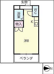 ハイツエスポワール[2階]の間取り