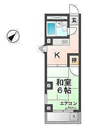 愛知県稲沢市長野2丁目の賃貸マンションの間取り