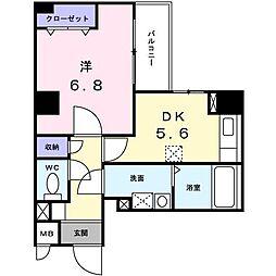 PARK岸和田II[403号室]の間取り