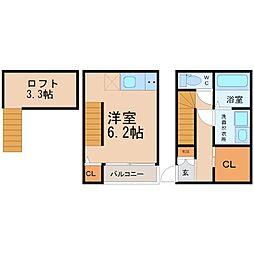 サファイア東海通(サファイアトウカイドオリ)[1階]の間取り