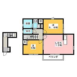 ソフィア水野B棟[2階]の間取り