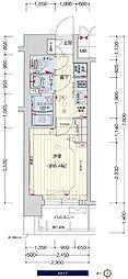 JR大阪環状線 鶴橋駅 徒歩3分の賃貸マンション 6階1Kの間取り