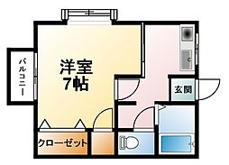 千葉県大網白里市駒込の賃貸アパートの間取り