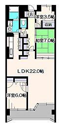 イーハトープ弐番館[1階]の間取り