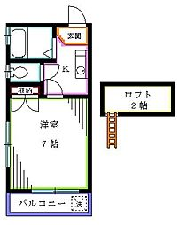 埼玉県新座市栗原3丁目の賃貸アパートの間取り