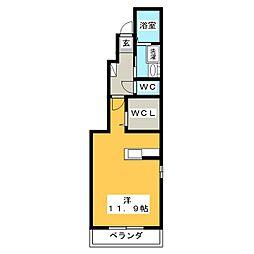 カーサ ヴィオラ2[1階]の間取り