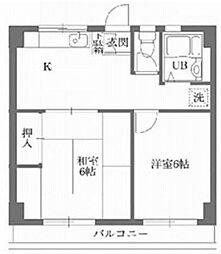 古澤マンション[303号室]の間取り