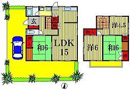 [一戸建] 千葉県松戸市八ヶ崎6丁目 の賃貸【/】の間取り