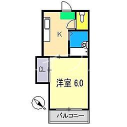 コーポYOKOYAMA[2階]の間取り