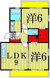 クレールVI[3階]の間取り