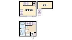 愛知県名古屋市南区西又兵ヱ町2丁目の賃貸アパートの間取り