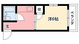 ルー・エーベル武庫川[301号室]の間取り