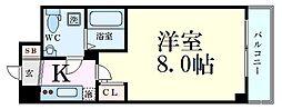 Osaka Metro御堂筋線 新大阪駅 徒歩9分の賃貸マンション 8階1Kの間取り
