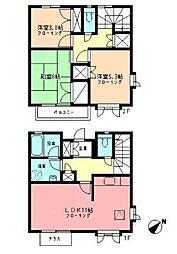 神奈川県横浜市都筑区荏田南5丁目の賃貸アパートの間取り
