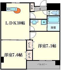 ヴェスタ堀江[3階]の間取り
