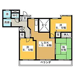ナビハイツ霞ヶ浦ステーション[2階]の間取り