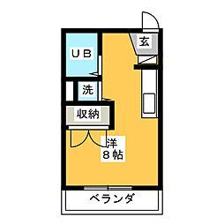 ヴィラ武智寿町[3階]の間取り
