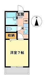 愛知県名古屋市港区明正1丁目の賃貸アパートの間取り