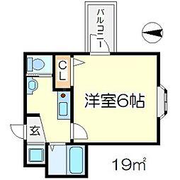 クイーンズコート[4階]の間取り