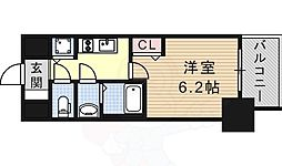 プレサンス金山コネクト 6階1Kの間取り