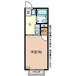 サニーハイツ高田[2階]の間取り