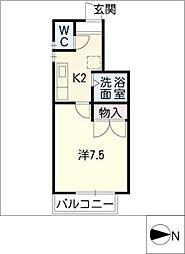 シングル上地[1階]の間取り