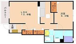 ファインスクエア1[1階]の間取り