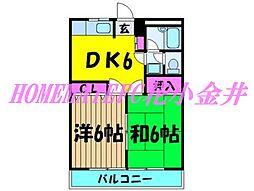 コーポ平井第2[2階]の間取り