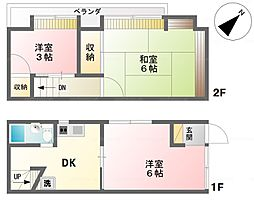 東神田1丁目貸家 2SDKの間取り