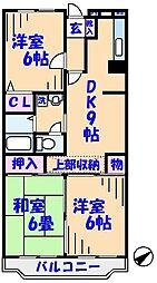 グリーンタウン矢島[2階]の間取り