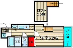 ハクユウ元町[7階]の間取り