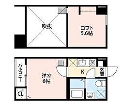 東京都葛飾区東金町7丁目の賃貸アパートの間取り