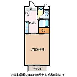 エスポワールコサカ[2階]の間取り