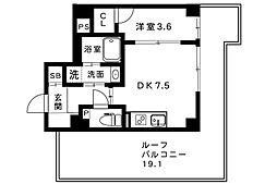 Xing cube one 5階1DKの間取り