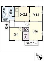 ドミールマリノII B棟[2階]の間取り