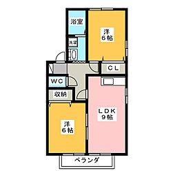 セジュールミニヨン[1階]の間取り