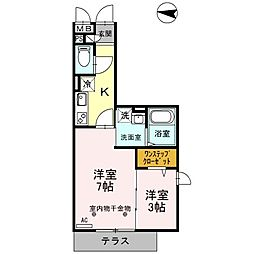 アコード・パル[2階]の間取り
