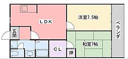 菊水ハイツ2番館[2階]の間取り