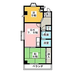 メゾン平松[4階]の間取り